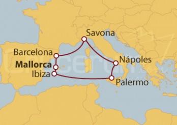 Crucero Islas Baleares, España e Italia