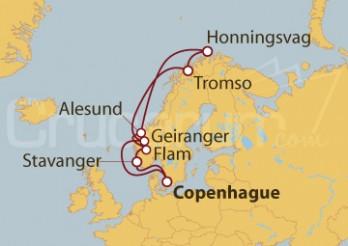 Crucero Noruega desde Copenhague (Dinamarca)