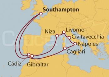 Crucero Reino Unido, Gibraltar, Francia, Italia y España