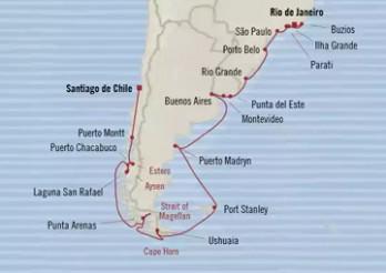 Crucero Estadía en Sudamérica