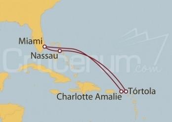 Crucero Miami (EEUU), Islas Vírgenes Británicas y Bahamas