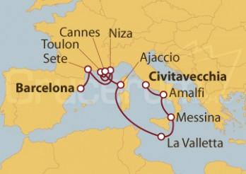 Crucero De Barcelona a Civitavecchia (Roma)