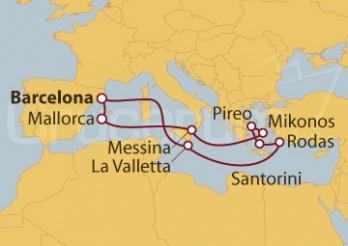 Crucero Mediterráneo Completo desde Barcelona