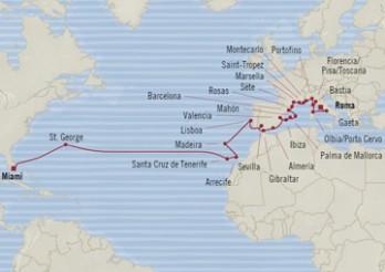 Crucero De Miami (EE UU) a Civitavecchia (Roma)