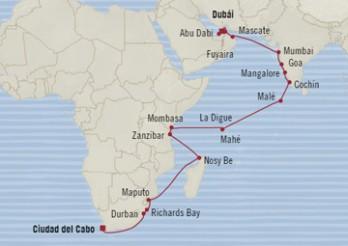 Crucero Gala en el Océano Indico