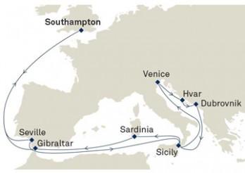 Crucero Costa Atlántica, Mediterráneo y Adriático