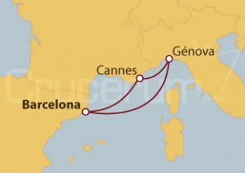 Crucero Minicrucero 4 días: Barcelona, Cannes y Génova