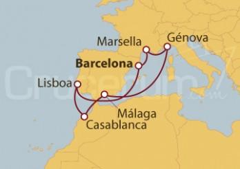 Crucero España, Francia, Italia, Marruecos, Portugal