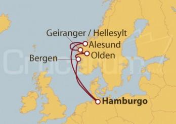 Crucero Hamburgo (Alemania) y Noruega