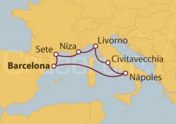 Crucero 5 Maravillas del Mediterráneo