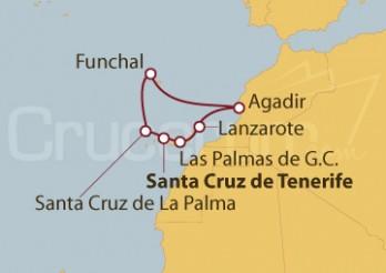 Crucero Islas Canarias, Portugal y Agadir