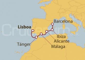 Crucero De la costa Atlántica al Mediterráneo