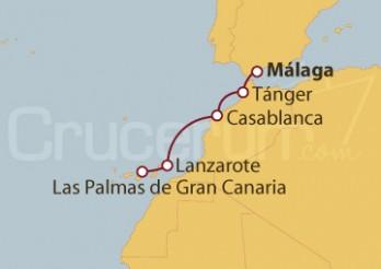 Crucero Islas Canarias y Marruecos desde Málaga