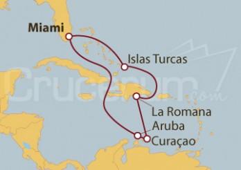 Crucero Bahamas, Rep. Dominicana, Curaçao y Aruba