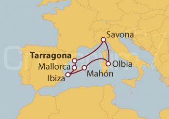 Crucero España, Italia, Islas Baleares