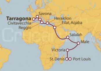 Crucero Desde Tarragona a Port Louis (Mauricio)
