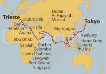 Crucero Vuelta al Mundo - CRUCERO INAUGURAL -