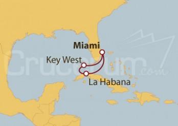 Crucero Miami (EE UU), Cayo Hueso y La Habana