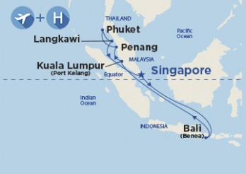 Crucero VIAJE COMPLETO Fin de Año - Asia desde Barcelona