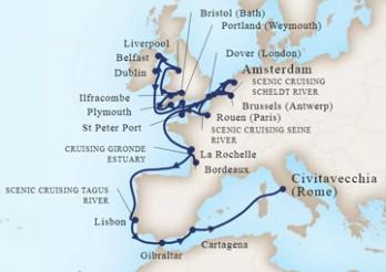 Crucero Viaje de Exploración por Gran Bretaña, Irlanda y los Ríos de Europa