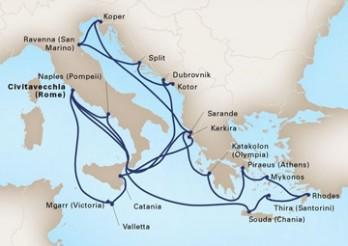 Crucero Imperios Antiguos y Leyendas del Mediterráneo