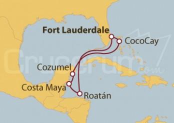 Crucero México y Honduras