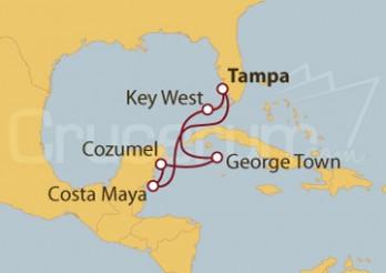Crucero Estados Unidos, Islas Caimán y México