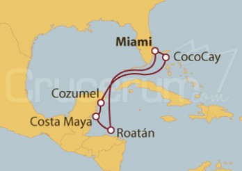 Crucero Honduras, México y Bahamas