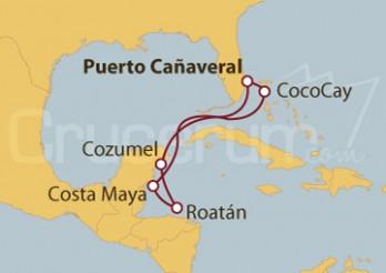 Crucero Honduras y México