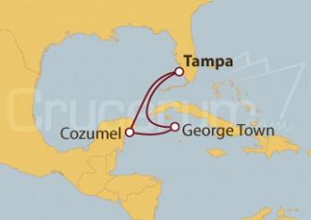 Crucero Islas Caimán y Cozumel