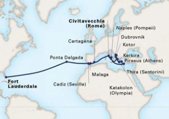 Crucero Mosaico Mediterráneo y Travesía a América