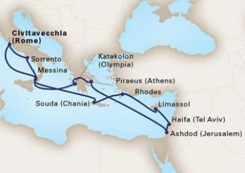 Crucero Viaje de Exploración por Tierra Santa y Reinos Antiguos