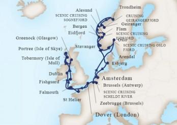 Crucero Viaje de Exploración Celta y por los Fiordos Noruegos