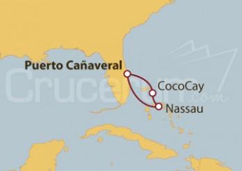 Crucero Bahamas: Cococay y Nassau