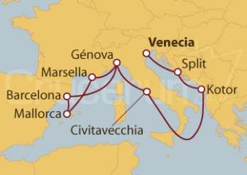 Crucero Italia, Croacia, Montenegro, Francia y España
