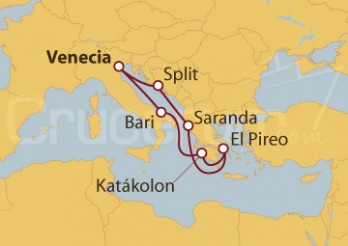 Crucero Italia, Grecia, Albania y Croacia