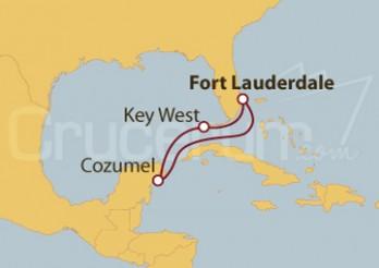 Crucero Fort Lauderdale (EE UU), Cozumel y Key West