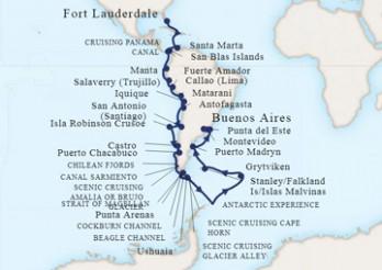 Crucero Gran Viaje por Sudamérica y La Antártida