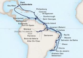 Crucero Vuelta al Mundo - Explorando el Amazonas y el Carnaval