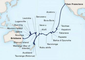 Crucero Odisea por el Pacífico y cruzando La Polinesia