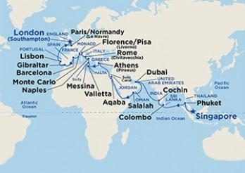 Crucero Asia y Mediterráneo