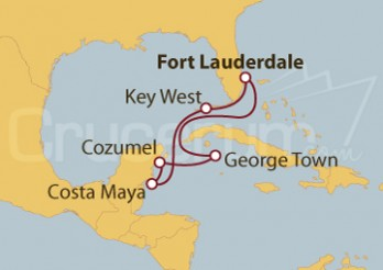Crucero Estados Unidos, México e Islas Caimán
