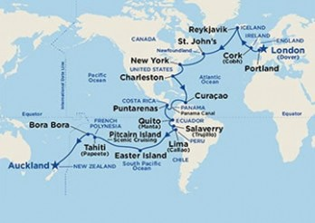 Crucero De Londres a Auckland a través de Panamá