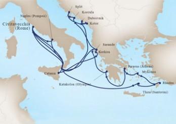 Crucero Leyendas del Mediterráneo e Imperios Antiguos