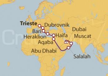 Crucero De Trieste (Italia) a Dubai (EAU) - Tramo 1 -