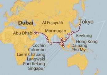 Crucero Desde Dubai (EAU) a Tokyo (Japón)