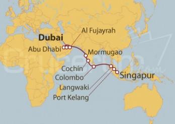 Crucero Dubai (EAU) a Singapur - Tramo 2 -
