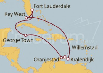 Crucero Islas Caimán, Antillas Holandesas y Estados Unidos