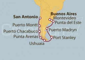 Crucero De Buenos Aires (Argentina) a San Antonio (Chile)