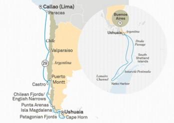 Crucero Fiordos Chilenos y Antártida